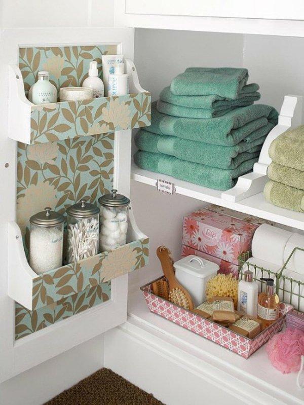 Badezimmer-Organisation-Deko-Regale