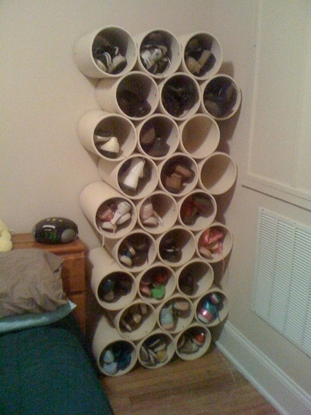 Build-your-own-PVC-pipe-shoe-rack