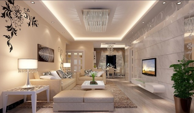 neutral-luxury-cream-living-room-with-white-lighting-and-tables-plus-decorative-plants-633x370