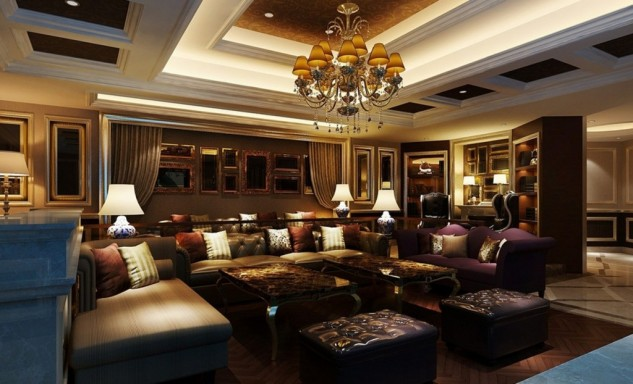 overawe-modern-luxurious-european-interiors-design-with-brown-leather-sofa-and-purple-loveseat-also-lamp-table-with-brown-chaise-lounge-and-marble-floor-1024x622-633x384