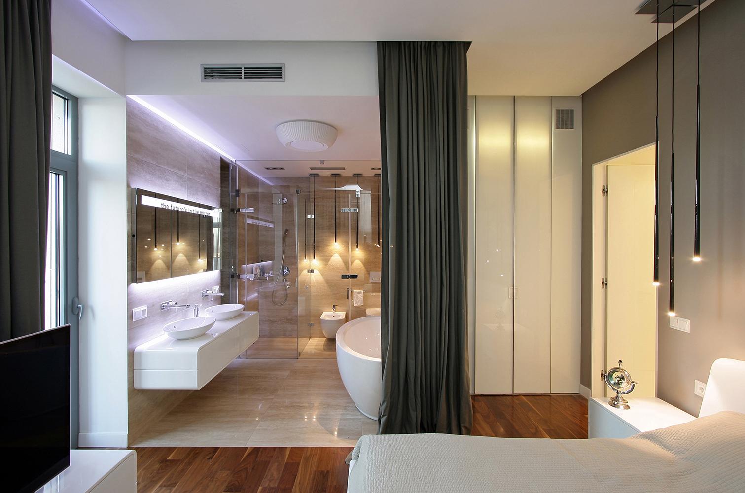 15 salles de bains fascinantes que vous voulez avoir dans for Separation chambre salle de bain photos