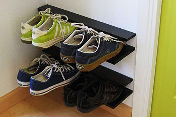 Make-a-floating-shoe-rack.