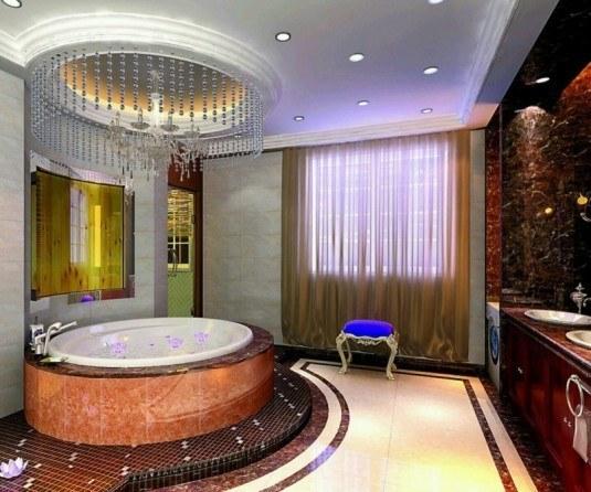 modern-bathroom-brown-bathtub-535x446