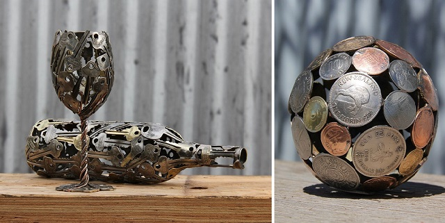 Sculptures-from-Keys-and-Coins