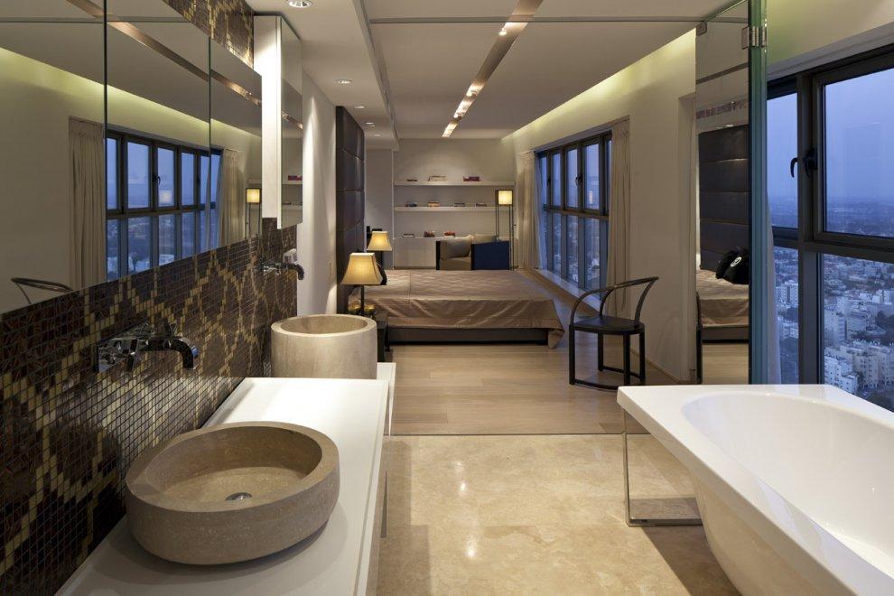 trendy-neutral-bedroom-bathroom-twin-basin